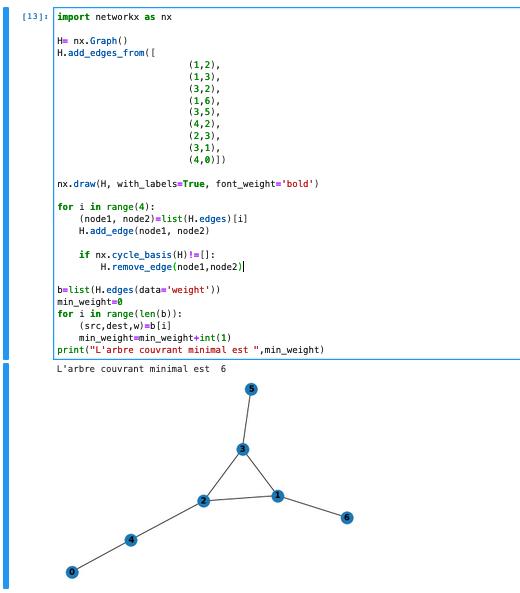 Algorithme de Kruskal - explication et implémentation python