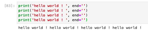 Python print without newline