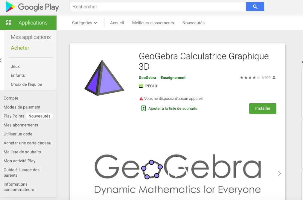Installer Geogebra etape 2